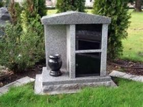 This beautiful granite mausoleum is the perfect way to honor your loved one.